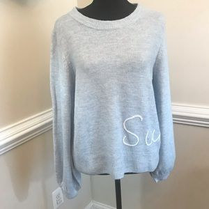 NWT LC Sunday Sweater Petite Size Large